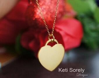 Gold heart pendant etsy popular items for gold heart pendant aloadofball Gallery