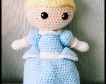 Cinderella inspired Amigurumi - Crochet Doll - MADE TO ORDER
