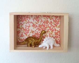 Dinosaur Wall Decor for Kid's Bedroom - Mini Diorama - Wall Hanging