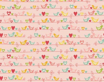 The Sweetest Thing Sweetest Bird Pink for Riley Blake Fabrics