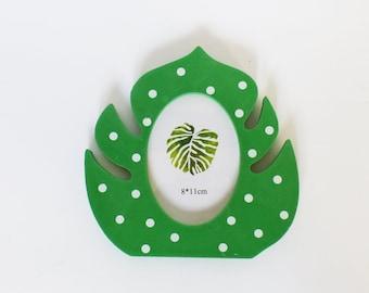 Frame sheet jungle green and white - slot for photo - home decor