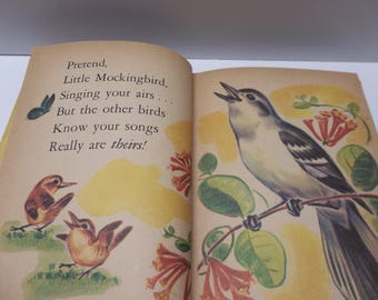 Vintage Feathered Friends Rand McNally Jr Elf Book