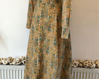 Vintage 1970's Deanna Littell cotton blouse and maxi skirt set