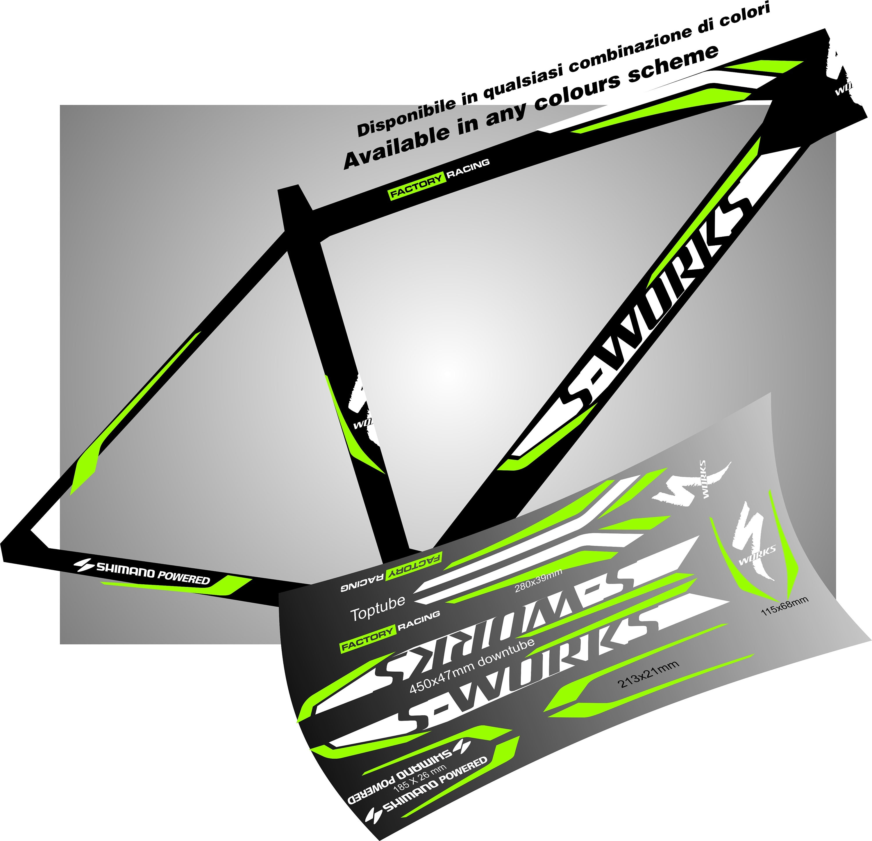 SPEZIELLE Fahrrad Rahmen Grafik Aufkleber Aufkleber Sticker