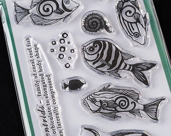 Coral Reef Fish Medley Stamp - As Seen On TV- A6- Coral Reef Collection