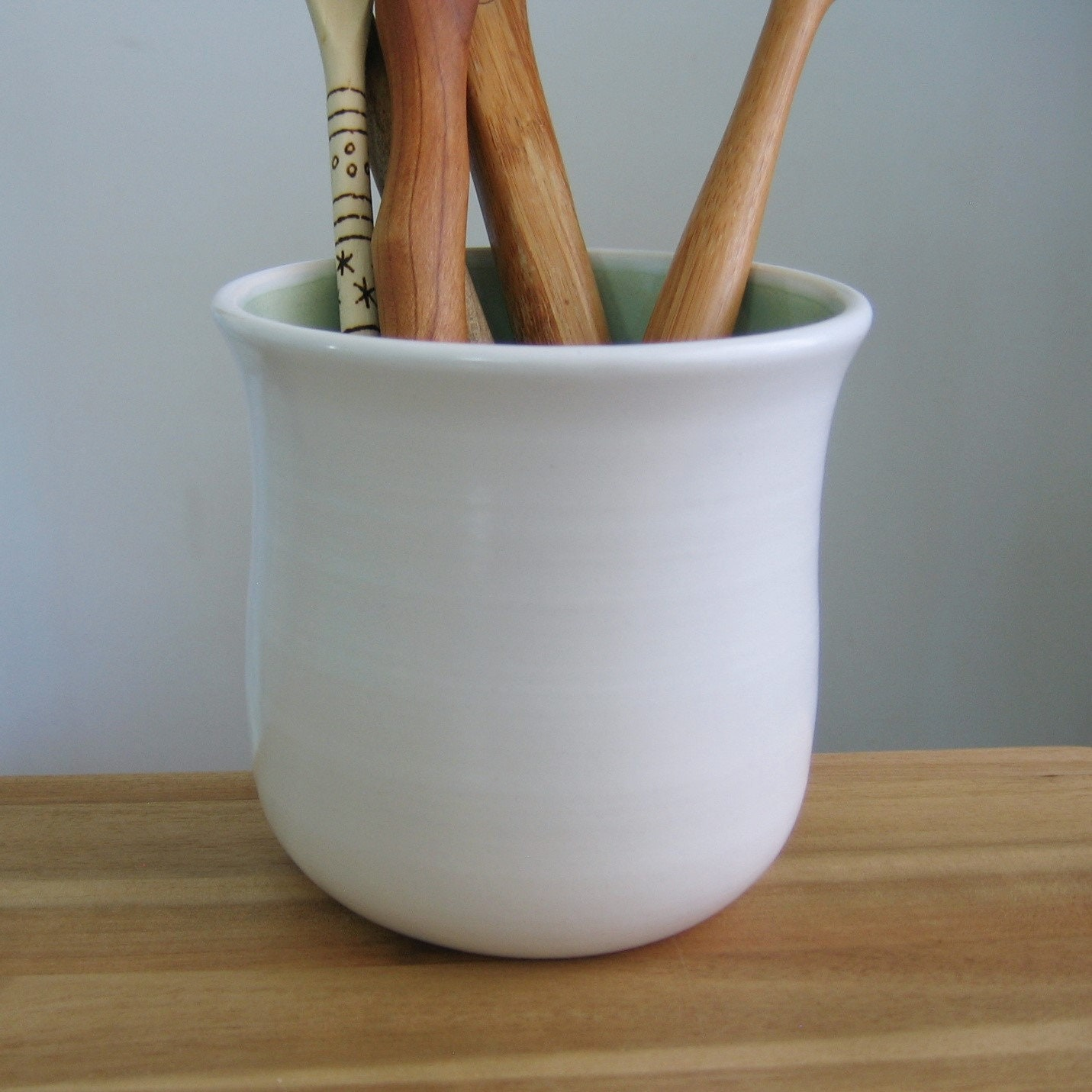 Utensil Crock Kitchen Storage Ceramic Utensil Holder Hand