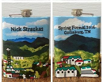 Custom Painted Flask