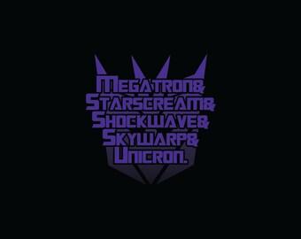 Transformers - Decepticons List Tee