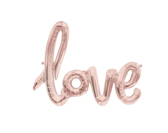 Rose Gold Love Balloon Love Balloons Pink Bridal Shower Decoration Calligraphy Balloon Love Balloon Bachelorette Ideas Blush Pink Love Sign