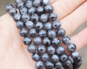 Larvikite Beads, 8mm Round Beads, Black Beads, Cheap Natural Beads, A quality, Black Labradorite Beads, Gemstone Beads,