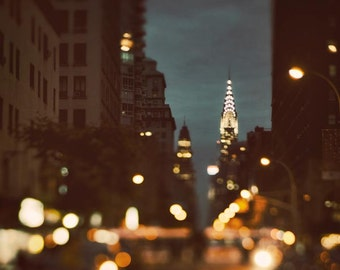 New York Photography, Large Wall Art Prints, Abstract NYC Prints, Chrysler Building, NYC Art, Travel Photography - Because the Night