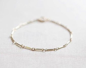 Links Bracelet | 14kt Gold Filled or Sterling Silver | Delicate Chain Bracelet | Minimal Bracelet