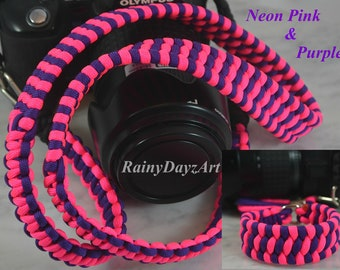 DSLR Camera Strap Combo, Handmade Paracord Camera Straps, Camera Neck Strap/Wrist Camera Strap, Canon Camera Strap, Nikon Strap, Save 10%