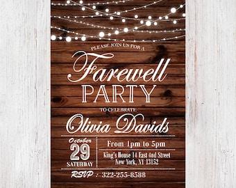Chalkboard Farewell Invitation Farewell Party Invitation