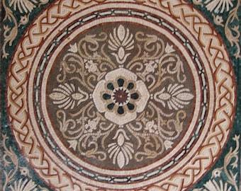 Floral Art Mosaic Panel - April III