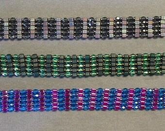 Instructions to create Cubes Plus Bracelet - Beading Instructions