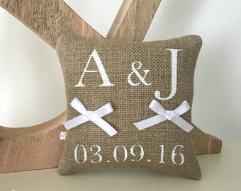 Alliances cushion custom linen