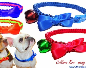 Paracord Dog Bow Collar.Pet Accessories.Dog Collar Paracord.Dog Holiday Collar.Dog Gift Idea. Many colors & size.