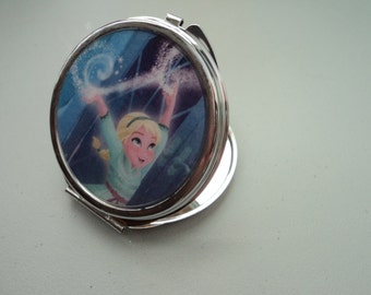 Frozen ELSA Disney 2 sided mirror purse compact adult & child