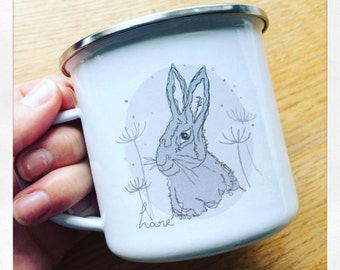 Hare Enamel Mug