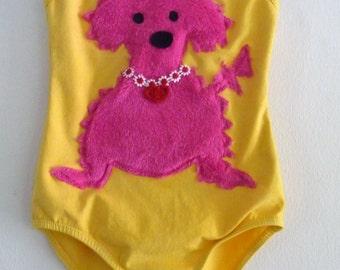 DOG LEOTARD- Childrens Chenille Puppy Dog Leotard- Gymnastics Leotard- Dog Birthday Party - Toddler Leotard