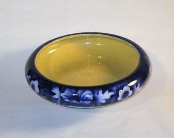 TRENT Pottery Blue Flow Shallow Dish or Bowl