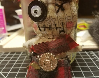 Scottish Voodoo Doll with Tim Holtz fabric