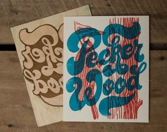 Pecker Wood - Block Print