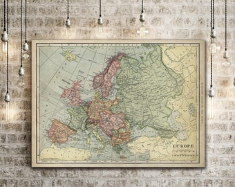 Europe map etsy old map of europe up to 43x 55 antique decor style decorative map gumiabroncs Choice Image