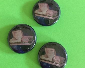 Cosmic Casket 1 inch button