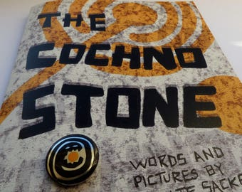 Cochno Stone comic and Eclipse Monster badge