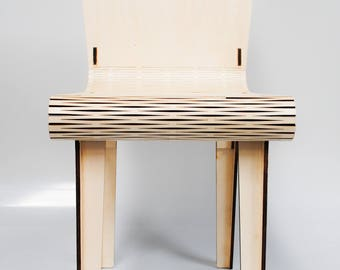 Customisable laser cut puzzle chair
