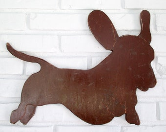 Dachshund Rustic Home Decor Wooden Dachshund Sign Dog Wall Art #5006