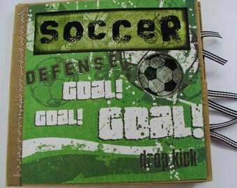 Soccer Paperbag Scrapbook