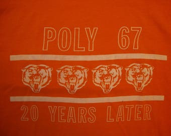 Vintage 80's Poly 67 20 Years Later Orange T Shirt Size L
