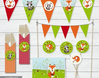 Printable party - Festa a tema nel bosco - Download digitale