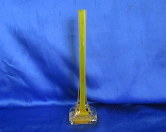 Tall Yellow Bud Vase