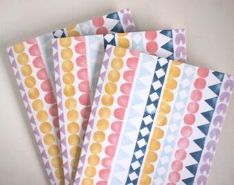 3 Grußkarten - Wigwam - mit Kuverts - A6 - 100% Recyling Papier