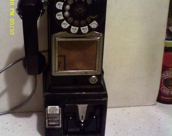 Telephone: WESTERN ELECTRIC 236G 3 Slot Payphone Pay Phone 1960's