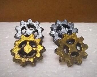 Lightweight Gear Earrings