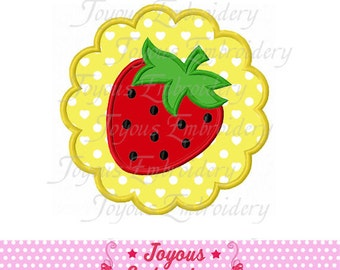 Instant Download Circle Strawberry Applique Embroidery Design NO:1535