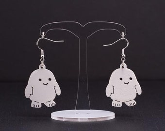 Doctor Who Adipose Earrings - Dr. Who Engraved Acrylic Earrings - Adipose Earrings