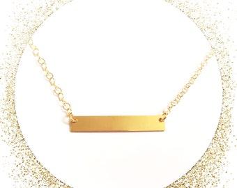Gold bar jewelry Etsy