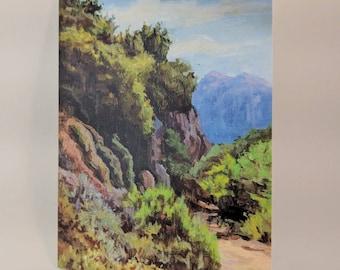 Matte Print Art Card - Temescal Canyon Trail