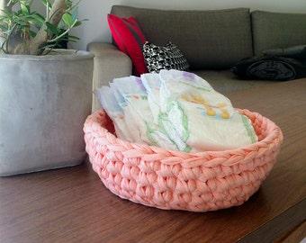 Diaper organizer, Nursery storage basket, Pink nursery decor, Pink storage basket, Pink storage box, Baby girl bedroom, Baby storage basket