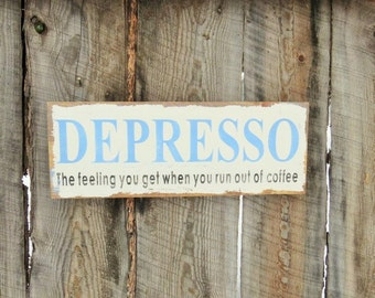 Rustic Home Decor Coffee Sign Kitchen Decor Sign Coffee Decor Coffee Shop Sign Decor Depresso Coffee Sign Distressed Montana Coffee Gift