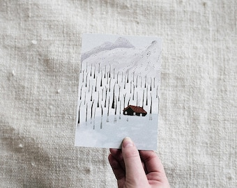 Winter Cabin - Card