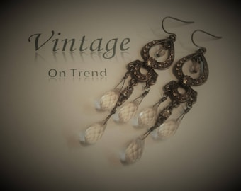 Vintage Victorian Gothic Style Earrings