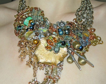Baroque Breastplate Statement Necklace