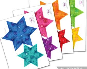Rainbow Baby shower decoration, Printable baby shower decor, Diy baby shower rainbow decor, Printable Rainbow garland, Instant download.